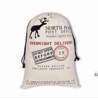 Monogrammabile santa sacchi di natale borse regalo di Natale santa sacco coulisse sacchetto Santa Claus Deer 39 Designs Bulk HWWE8185
