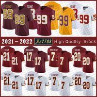 Foi 99 Chase Jovem Jersey Jersey 17 Terry Mclaurin 21 Sean Taylor 7 Dwayne Haskins Jr Mens Alta Qualidade Costurada Jerseys