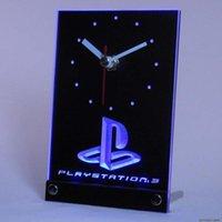 Wall Clocks Tnc0193 Playstation PS3 Game Room Table Desk 3D LED Clock
