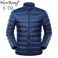 NewBang Plus 6XL 7XL Down Jacket Men's Large Size Ultra Light Men Duck Windbreaker Lightweight Feather Coats