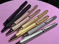 جودة عالية الأسود الفضة الذهب روز الذهب حبر جاف معدني القلم غرامة مكتب القرطاسية الفاخرة الكتابة الملء الأقلام ل هدية الأعمال