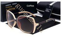 Alta Qualidade Moda Vintage Mulheres Designer Womens Sunglasses UV400 senhoras Ciclismo Óculos Óculos de Sol com casos e Caixa 7 Cores