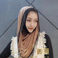 Ready To Wear Plain Modal Muslim Scarf Women Hijab Tassel Ethnic Clothing