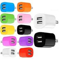Красочные 2.1A двойных портов USB USB US EU AC Home Настенное зарядное устройство PLUS адаптер для iPhone Samsung S6 S7 Edge Smart телефоны
