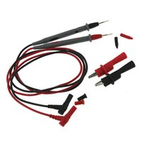 Multimeters 20A Gold Plated Silicone Wire For Digital Multimeter Ultra Pointed Copper Alligator Clip Set Red And Black