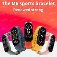 M6 esportes pulseira inteligente relógio homens fitness rastreador pulseiras mulheres frequência cardíaca pressão arterial impermeável para Android IOS BAND 6