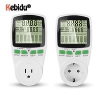Plugues de alimentação inteligente Kebidumei portátil Digital LCD Tomada de Energia Medidor de Eletricidade Wattímetro Wattmeter Watt Tensão Corrente UE US Plug
