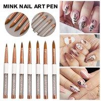 Nail Art Kits Acrylic French Stripe Liner Brush Set For HomeDIY Salon Painting Tools Manicure Tool Drop