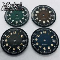 31,5 мм Стерильный циферблат светящиеся циферблатные часы FIT ETA 2836 2824 MINGZHU DG2813 3804 Miyota 8205 8215 821A Чайка 1612 Движение
