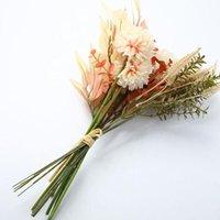 Decorative Flowers & Wreaths INS Artificial Dandelion Peony Hybrid Bouquet Wedding Green Plant Home Decoration Plastic Fake Flower