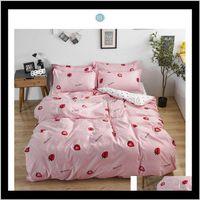 Sets Four Seasons Home Bedroom Set Comforter Bedding Light Luxury Duvet Cover Bed Sheet Pillowcase Fashion Xm5Ru Zqtrx