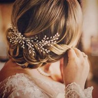HP182 Pettine da sposa Petropo perla Capannone Capelli Clip per Bride Accessori Capelli Compleanno Copricapo Bridal Hearwear Gioielli Pin dei capelli Regalo