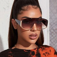 One Contact Lens Fashion UV400 Shield Oversized Huge Big Mask Half Face Owen Sunglass, Large Lens Sunglass