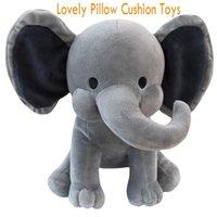 DHL Shipping Детская слона Мягкая подушка Фаршированная кукла Cute Comfort Baby слон плюшевая игрушка слон спальная подушка подушка рождения подарок