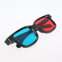 Óculos Black frame Universal 3D vidro es / vermelho azul anaglif filme video game dvd phantomy 461