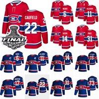 몬트리올 Canadiens Jersey 22 Cole Caufield 14 Nick Suzuki 31 Carey Price 11 Brendan Gallagher 6 Shea Weber 17 Josh Anderson Hockey Jerseys