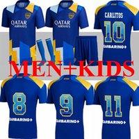 21 22 Boca Juniors Juniors Jogador Alexis Soccer Jerseys Maradona Tevez de Rossi 2021 2022 Carlitos 3 Camiseta Futbol Camisa de Futebol