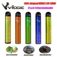 100% original VIGED 2 en 1 mini e-cigarrillo Dispositivo de vape de vape vape POD 600 Puffs 2% Dentro de 3pcs / paquete Vaporizador 400mAh Batería vendiendo el Reino Unido Australia EE.UU. FR