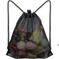 Bolsas de almacenamiento en el hogar Bolsa de compras reutilizable Verduras de fruta Verduras Trastero Tela de malla Tejido de malla Saco FWD9143