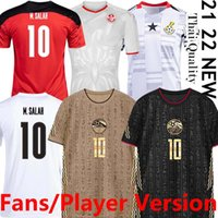 2021 Sul de Futebol Jerseys Vende Version Versão África National Football Team Egito M.Salah # 10 Gana Tunísia Home Away Terceiro Homens Camisas Tailandês