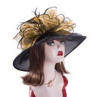 여성 멋진 넓은 넓은 태양 교회 결혼식 티 파티 켄터키 더비 공식 꽃 신부의 어머니 모자 A045