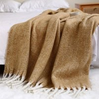 Blankets Camel Soft Luxury Throw For Sofa Couch Decorative Grey Thick Plush Blanket Farmhouse Bed And Living Room Fringe