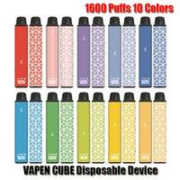 Authentic VAPEN CUBE Disposable E-cigarette Device 1600 Puffs 650mAh Battery 5.5ml Prefilled Cartridge Pod Vape Pen Kit Genuine Vs Bar Plus XXL