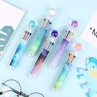Korean creative multi-function visual ball point candy 12 constellation color push pen multi-color penTQDZ