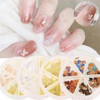 Nail Art Decorations 3D Silver Gold Glitter Sequins Metal Butterfly Rhinestones Design Laser DIY Tips Manicure Accessories
