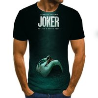 3D bedrucktes T-shirt Männer Joker Gesicht lässig Oansatz männlich T-Shirt Clown Kurzarm lustige T-Shirts 2021 Sommer T-Shirt Homme