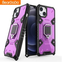 Shockproof Armor Case For iPhone 13 Pro Max Space Capsule Stand Holder Car Magnetic Ring Phone Back Cover For iPhone 13 Pro Mini
