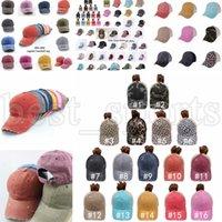 포니 테일 야구 모자 65 스타일 씻어 고민 된 지저분한 빵 ponycaps 표범 해바라기 아빠 트럭 메쉬 모자 야외 스포츠 조절 모자 cyz3225