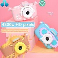 Dijital kameralar çocuk kamera oyuncak fotoğraf çekebilir 3.0 dokunmatik ekran bebek mini 4800 w SLR doğum günü hediyesi