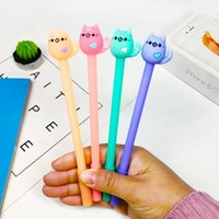 24 шт. Корейский креативный милый студент черный углеродная ручка конфеты цвет уход за кабинетом Cat канцелярские товары нейтральный ручка Kawaii школьные принадлежности 210330