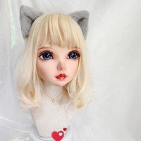 Máscaras de fiesta (TAO-06) Femenino Dulce niña resina media cabeza kigurumi bjd ojos crossdress cosplay japonés anime rol lolita máscara con y peluca