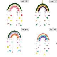 المنسوجة سحابة rainbow شنقا الديكور ins الشمال نمط جدار ديكور المنزل غرفة الأطفال قلادة HWA5312