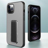 Darbeye Dayanıklı Mat 2 1 ADET TPU Cep Telefonu Kılıfları iphone 7 8 Artı XR XS 11 Pro Max 12 Mini SE2 Tam Vücut Koruyucu Arka Güçlendirilmiş Köşe Gizli Kickstand