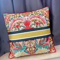 Lüks Tasarımcı Yastık Kılıfı Yastık Örtüsü Polyester / Pamuk Malzeme Nakış Zanaat Çiçek Desen 45 * 45 cm ve Ev Dekorasyon için 30 * 50 cm