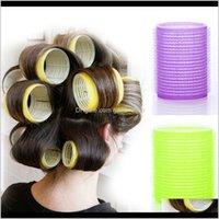 6 ADET Kendinden Grip Holding Silindirler Kuaförlük Curlers Saç Tasarım Yapışkan Cling Stil DIY 4S4IP KQ3FN için