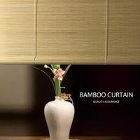 Güneşlikler Bay Bambu Pencere Rulo Logo Özelleştirme Ev Gölge Karartma Bölüm Doğal Yün Kepenkleri Çevre Koruma
