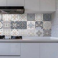 Other Decorative Stickers kitchen wallpaper tile paste bathroom decoration PVC waterproof tiles self-adhesive floor sticker