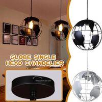 Pendant Lamps Globe Chandelier Art The Earth Single Head Retro Ceiling Lamp Metal Suspension Fixtures Lights Home Decoration