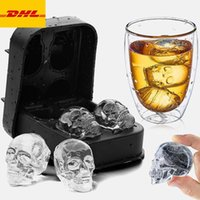 3D Skull Silicone Mold Tool Ice Cube Maker Chocolate Mould IceCream DIY Tools Whiskey Wine Cocktail DHL Free Freight