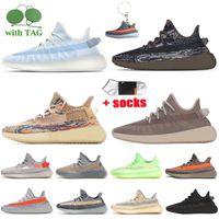 adidas yeezy boost 350 v2 yeezys yeezy 350 Wiith Box Kanye West Running Shoes Big Size 13 Asriel Luz Traseira Yecher desvanece Israfil enxofre Mulheres Homens sapatilhas