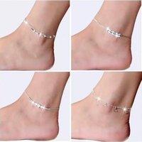 Luxus Designer Neue 925 Sterling Splitter Knöchel Armband Für Frauen Fuß Schmuck Inlaid Zirkon Fußklets Armband auf einem Bein Persönlichkeit Geschenke