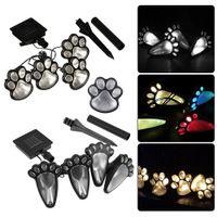 4 Solar Rasenlampen Katze Animal Paw Print Lights Garten Im Freien Laterne LED Landsache Lampe Pfad Dekorative Beleuchtung Fußabdrücke