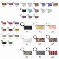 37 Styles ZZA2366 Leather Key Keychain O Phone PU Women Bracelets Wristlet Wallet Clutch Bracelet Chain Party Favor 50Pcs Rings Mmial