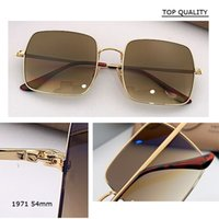Newest Vintage Metal Steampunk Sunglasses gradient Square Sun Glasses For Men Women Stylish Retro Brand Shades Male Female UV400 1971