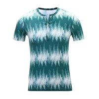Camiseta 3d listra impresso roupas masculinas moda top manga curta tees pólos seda de leite de alta qualidade
