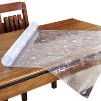 Tovaglie in PVC cosmo da 1,5 mm Cosmo PVC Impermeabile Tavolo rettangolare Coperchio pad Cucina Cucina A Proiatura dell'olio Morbida Pannelli di cristallo in vetro morbido